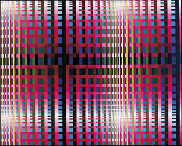 """Susie Rosmarin, <em>Variation Study (#295)</em>, 2003. Acrylic on Canvas, 24 x 30"""""""