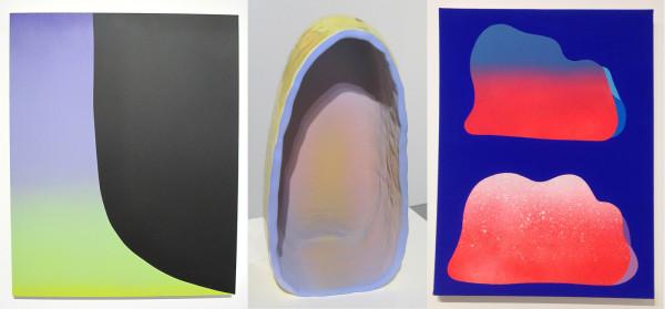 Rosales-Silva, <em>East LA Sunset Eclipse</em>; Oloshove, <em>Meditation Cave</em>;Herreshoff, <em> Sour Oranges</em>