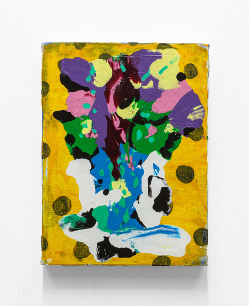 "Shane Tolbert,<em>Mother's Day Flowers</em>, 2013. Acrylic on canvas, 15 x 11"""