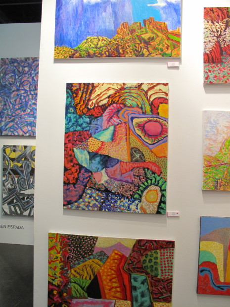 Wall of Earl Staley's latest