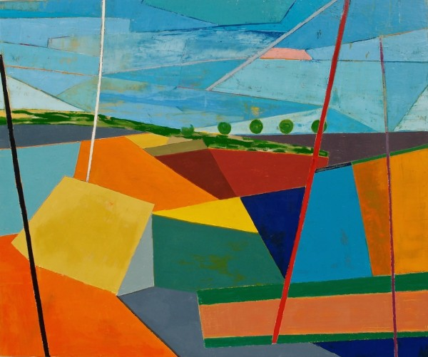 Larry Graeber, Trough, 2014, oil on canvas,