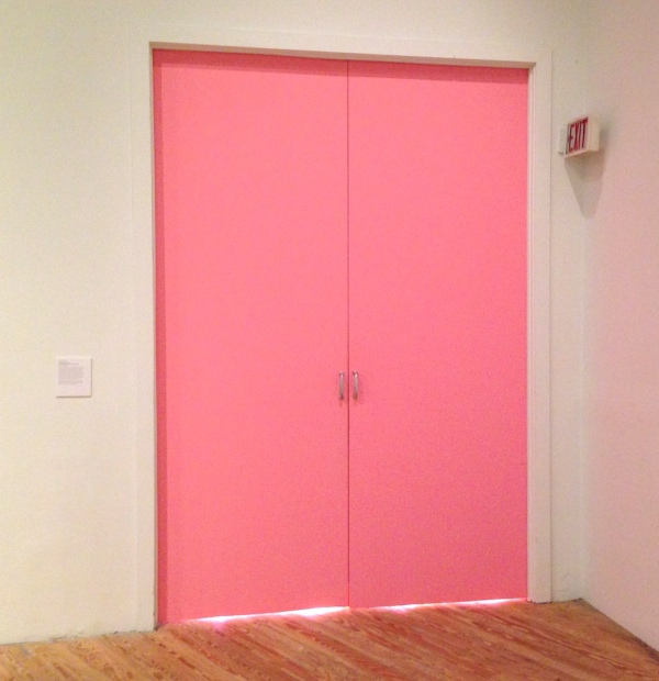 <em>The Big Pink Moon</em>, 2014. Paint (Baker-Miller pink), pink light bulbs