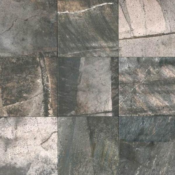 "Tile samples, ""Porada,"" deep grey, PR 34 from Daltile."