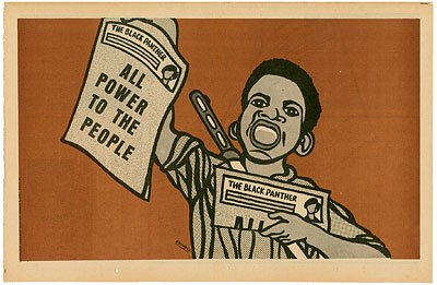 Emory Douglas, official artist of the Black Panther Party, from blackpowermixtapeaugust28.wordpress.com