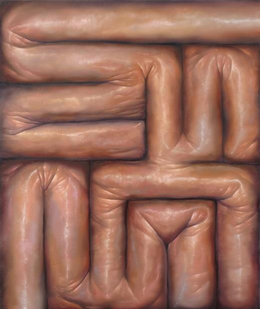 "<em>Maze</em>, 2014. Oil on Canvas, 48x 40"""