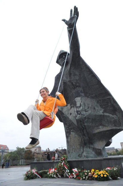Kamila Szejnoch, <em>Carousel Slide Swing</em>, 2008. Photos, video (4:04) and leaflets