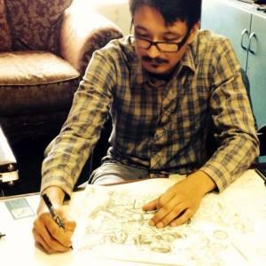 Albert Alvarez at work