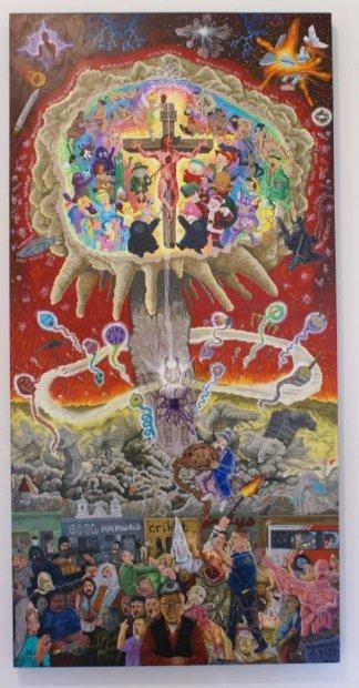 Albert Alvarez Codename Doomsday, 2012 acrylic on panel 48 x 24 in. Collection of Sandra and Dr. Raphael Guerra, San Antonio
