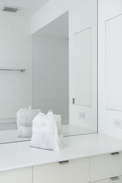 Kimchi Jjigae in a Bathroom detail