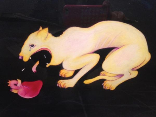 Eversion (detail), 1989. Oil pastel, pencil on paper.