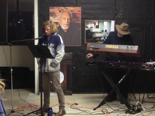 Ian James, left, J.D. Emmanuel, keyboards, ar right.