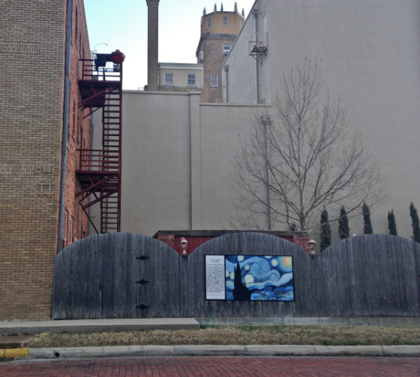 Van Gogh with fire escape at the rear of the Connellee.