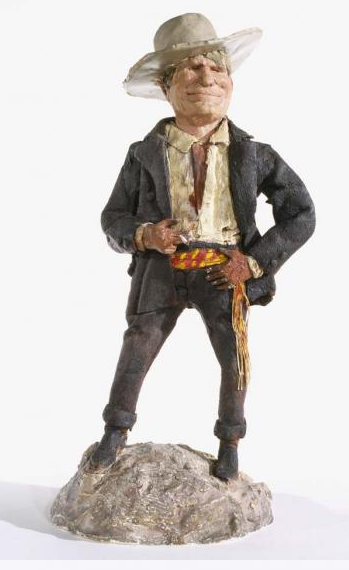 Charles M. Russell (1864–1926) Charlie Himself, ca. 1915 Wax, cloth, plaster, metal, string, and paint Amon Carter Museum, Fort Worth, TX