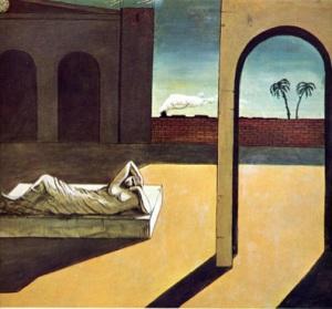 Giorgio de Chirico, The Soothsayer's Recumbence, 1913