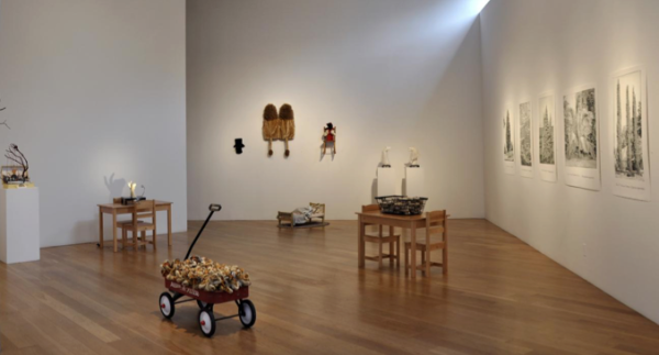 Helen Altman, Cover Your Nut at Moody Gallery, installation view