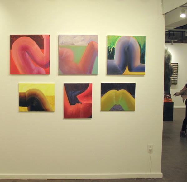 Kristine Moran, figures at Nathalie Karg Gallery