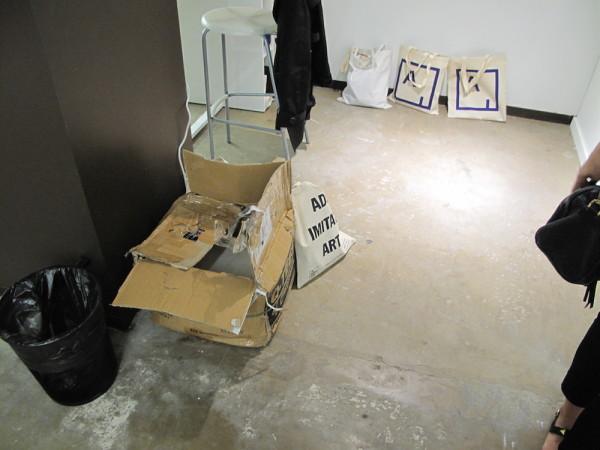 Bill Davenport, Artsy Ad Bag, 2015 Installation, dimensions variable