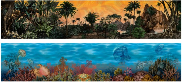 Tropical Landscapes Stacked Print