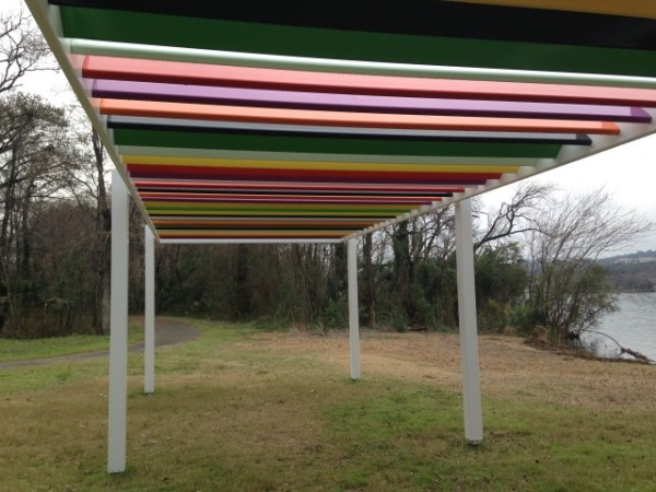 Raised Laguna Discussion Platform by Liam Gillick.