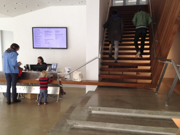 Lobby and staircase and stairdesk