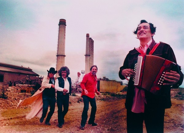 Doug Sahm, Freddie Fender, Augie Meyers, Flaco Jimenez --- Texas Tornados, 1990s, Alamo Quarry, San Antonio