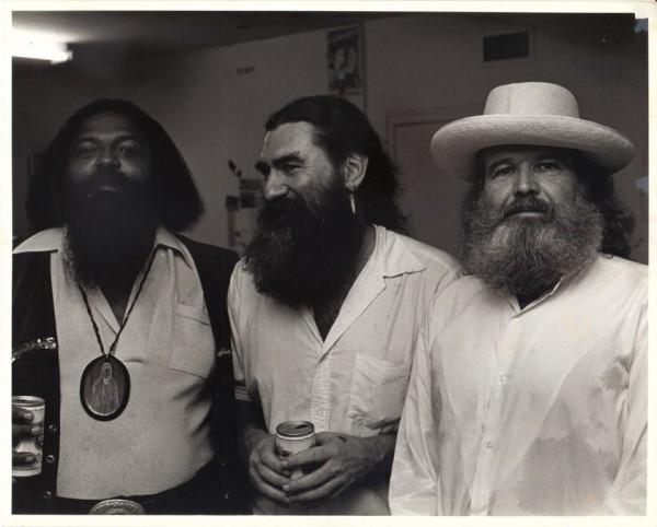 Bert L. Long, Jr, James Surls, and Bob Bilyeau Camblin at Lawndale Annex, c. 1980. Photo by Frank Martin.
