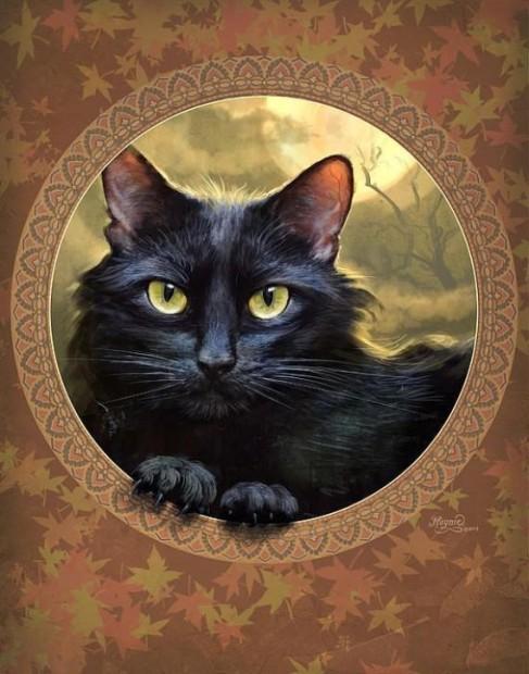 Cat art by Jeff Haynie. Image via Huffington Post.
