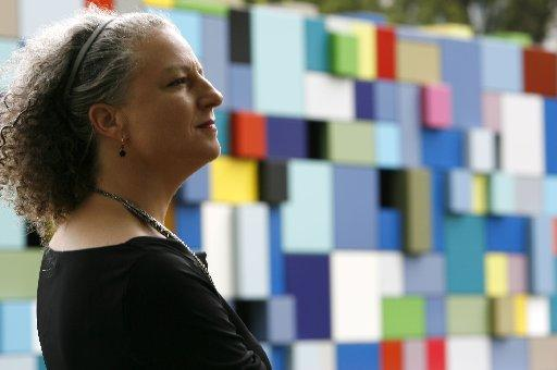 Margo Sawyer with Synchronicity of Color at Houston's Discovery Green, 2008. Photo: Karen Warren / Houston Chronicle