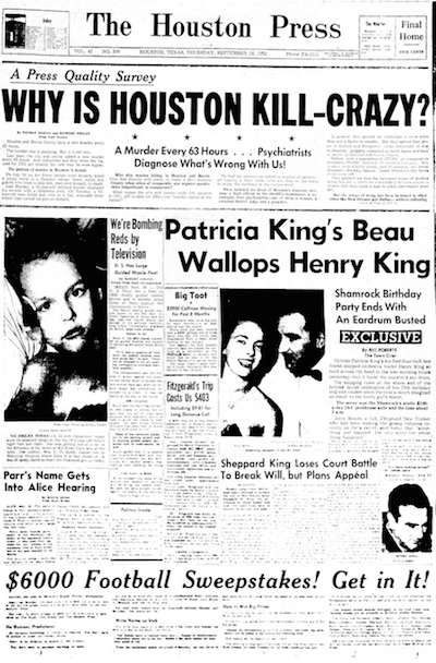 1952 cover of The Houston Press