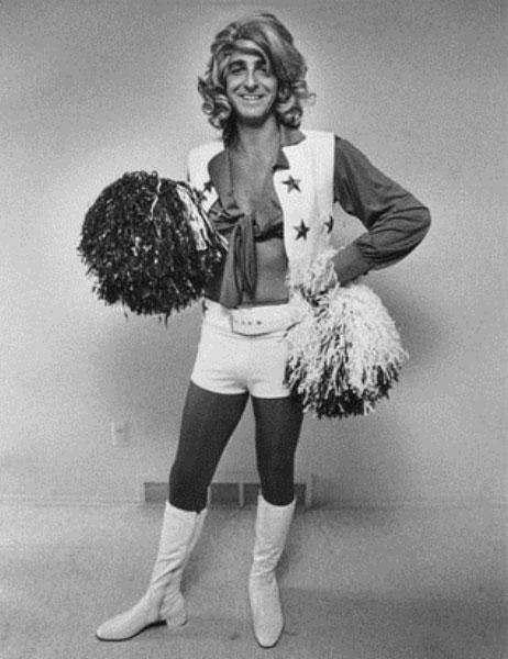 Barry Bremen, a.k.a. The Great Impostor, as a Dallas Cowboy Cheerleader