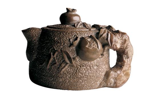 Homei Iseyama interned Topaz Utah teapot slate