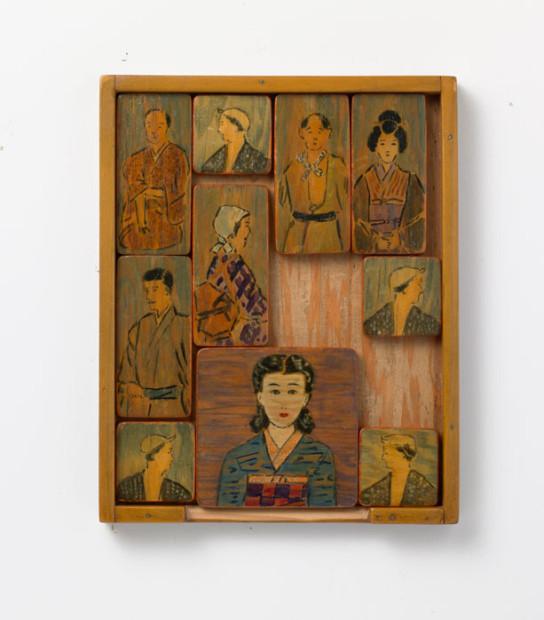 Kametaro Mastsumoto interned Minidoka Idaho wood paint shellac