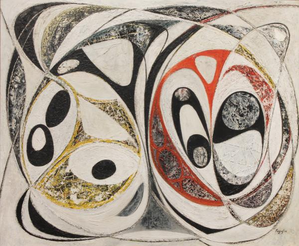 Limestone X, 1950, oil on Masonite