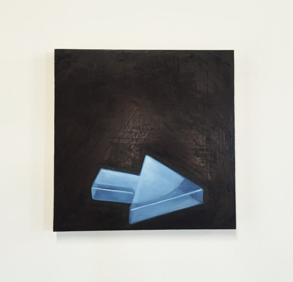R. H. Quaytman, Distracting Distance, Chapter 16, 2010. Oil on panel.