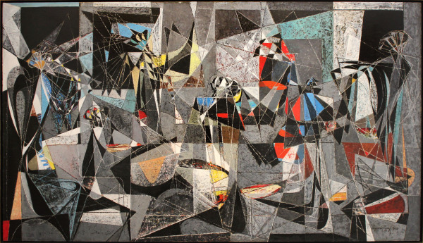 Conclave, 1950, oil on canvas