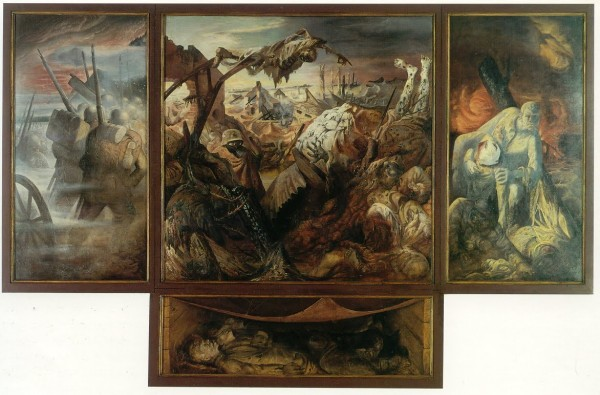 Otto Dix, Triptychon Der Krieg (War Triptych), 1929-32. Tempera on wood. Gemäldegalerie Neue Meister, Dresden.