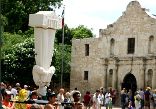 Spinning San Antonio Fiesta, 2011 performance at the Alamo