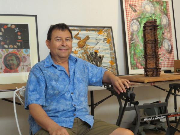 Roland Briseño in his studio. Photo: David S. Rubin