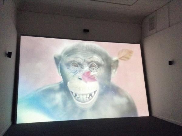 Currently at Ballroom Marfa: Ed Atkins, Even Pricks, 2013. video installation.