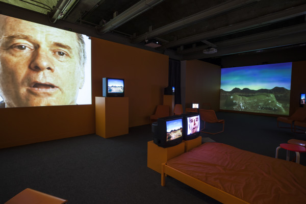 Charles Atlas, Cowboy Body, 2015. Four-channel video installation with sound.