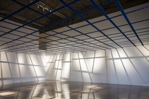 Ayse Erkmen, 3DN, 2015. Textile installation.