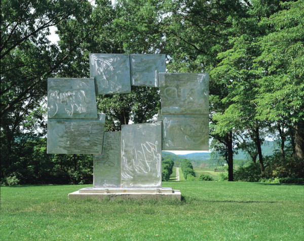 David Smith, Untitled (Candida), 1965. Stainless steel 103 × 120 × 31 in. Estate of David Smith