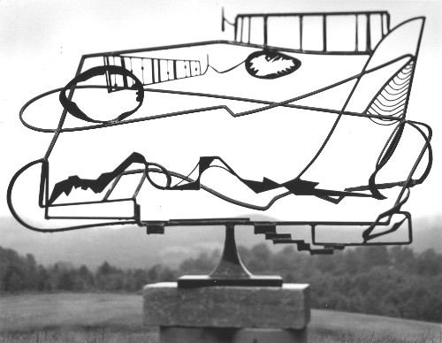 (Note: Ray used a work in the Menil Collection during his talk. This one is similar.) David Smith, Hudson River Landscape. 1951. Welded painted steel and stainless steel. 48 3/4 × 72 1/8 × 17 5/16 in.Whitney Museum of American Art