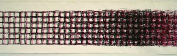 """Vera Molnar: """"Square Structures,"""" 1986, computer graphic."""