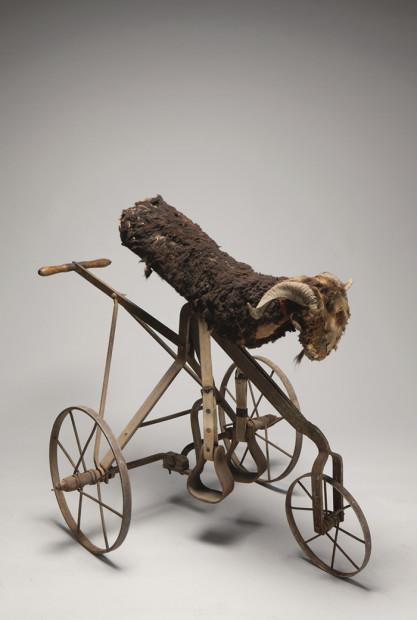 """The Royal Bumper"" mechanical goat, ca. 1910"