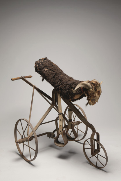 """The Royal Bumper"" mechanical goat, ca. 1910"