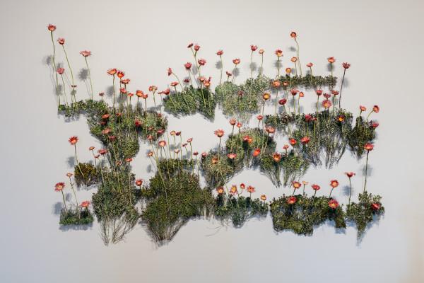 Momma's Flowers, Daddy's Weeds, cast bronze, powder coat, 2015