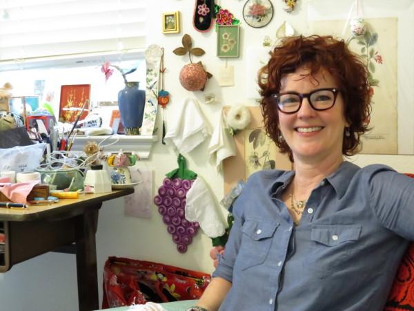 Leigh Anne Lester in her studio. Photo: D. Rubin