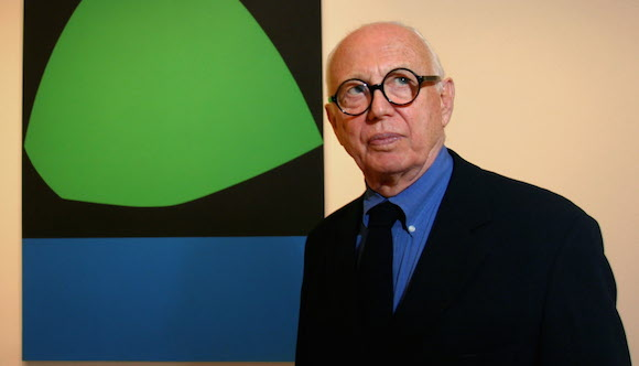 Ellsworth Kelly at the Ellsworth Kelly in Dallas exhibition preview reception at the Dallas Museum of Art.