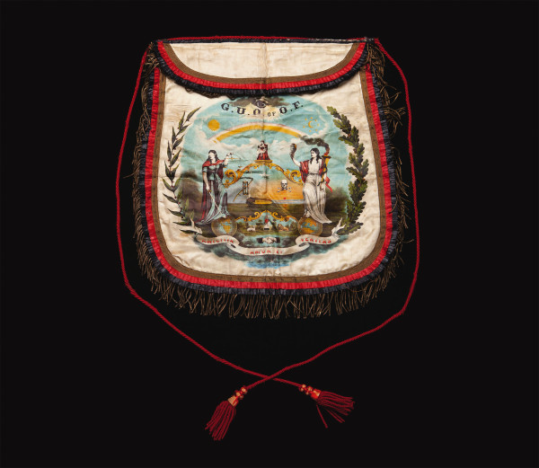 Grand United Order of Odd Fellows apron, ca. 1880